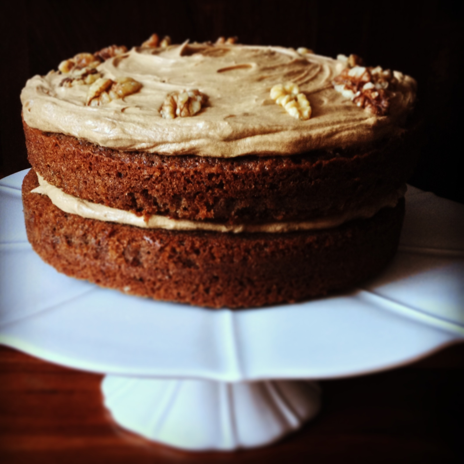Coffee and Walnut Cake | A Cookbook Collection