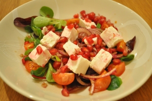 Feta and Pomegranate Salad - A Cookbook Collection