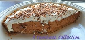 Chocolate Silk Pie- A Cookbook Collection