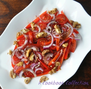 Tomato and Pomegranate Molasses Salad -A Cookbook Collection