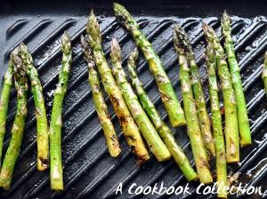 Harissa Marinated Asparagus and Halloumi -A Cookbook Collection