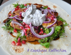 Ras el Hanout Chicken Wrap with Yoghurt Sauce - A Cookbook Collection (2)