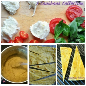 Grilled Polenta with Caprese Salad - A Cookbook Collection 5
