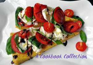 Grilled Polenta with Caprese Salad - A Cookbook Collection