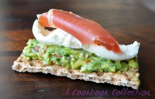 Chunky Guacamole Mozarella Serrano Ham - A Cookbook Collection