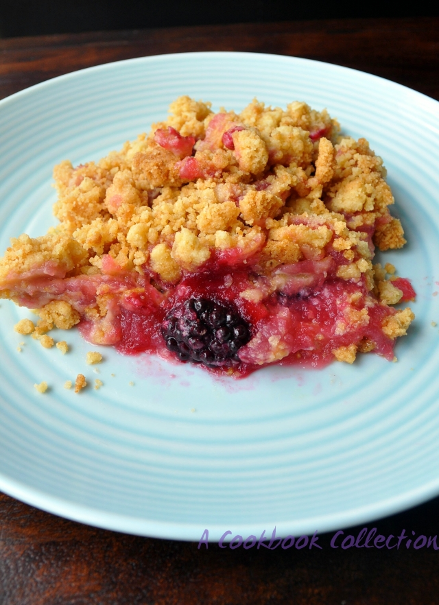 Apple and Blackberry Crunble - A Cookbook Collection 2