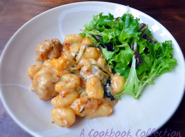 Sausage Butternut Squash and Gnocchi Bake - A Cookbook Collection
