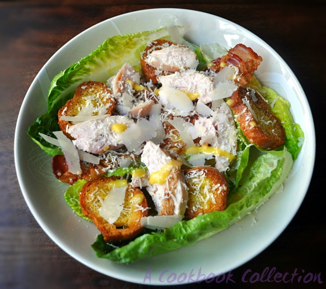 Smoked Chicken and Pancetta Caesar Salad - A Cookbook Collection 1