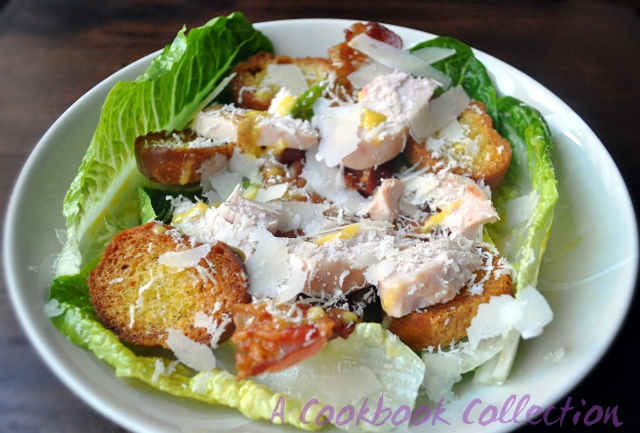 Smoked Chicken and Pancetta Caesar Salad - A Cookbook Collection