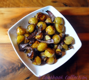 Balsamic Roast Potatoes and Onions - A Cookbook Collection