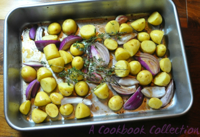 Balsamic Roast Potatoes and Onions -A Cookbook Collection