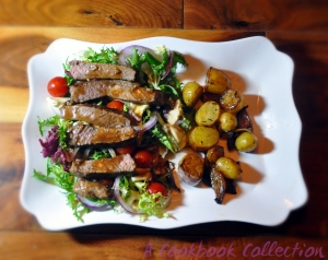 Beef and Blue Cheese Salad -A Cookbook Collection