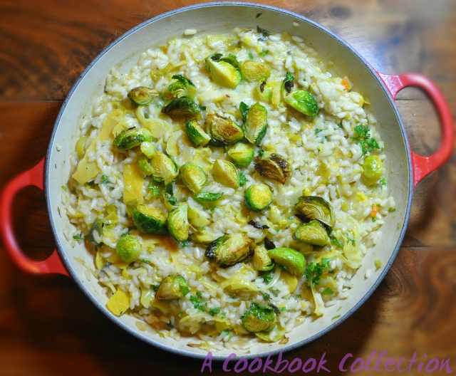 Brussels Sprout Risotto  -A Cookbook Collection