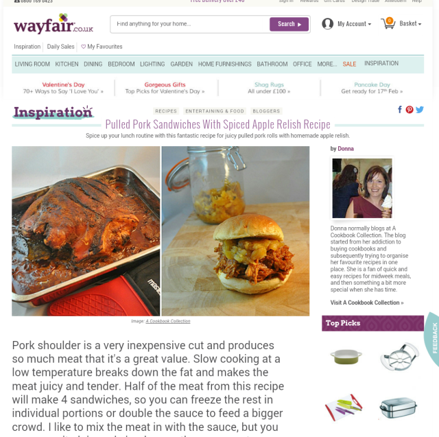 Wayfair - Pulled Pork Apple Relish