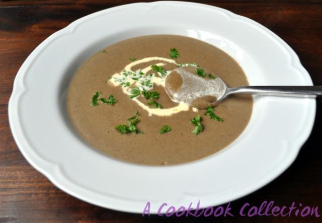 Creamy Mushroom Soup -A Cookbook Collection