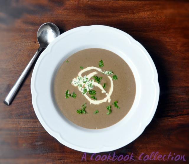 Creamy Mushroom Soup- A Cookbook Collection