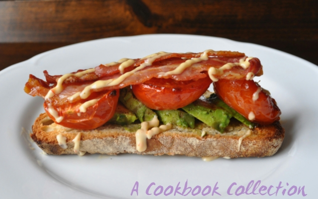 Roasted Tomatoes and Avocado Bacon on Toast - A Cookbook Collection