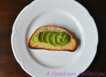 Roasted Tomatoes and Avocado on Toast -A Cookbook Collection