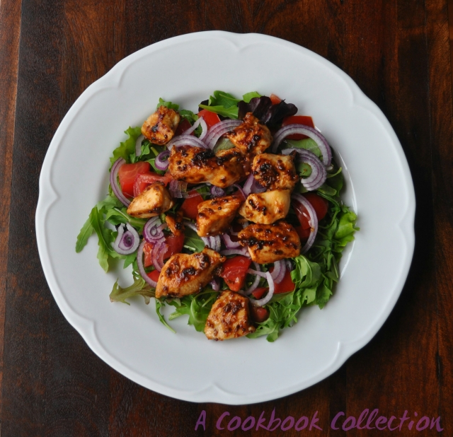 Warm Chicken and Bacon Salad - A Cookbook Collection