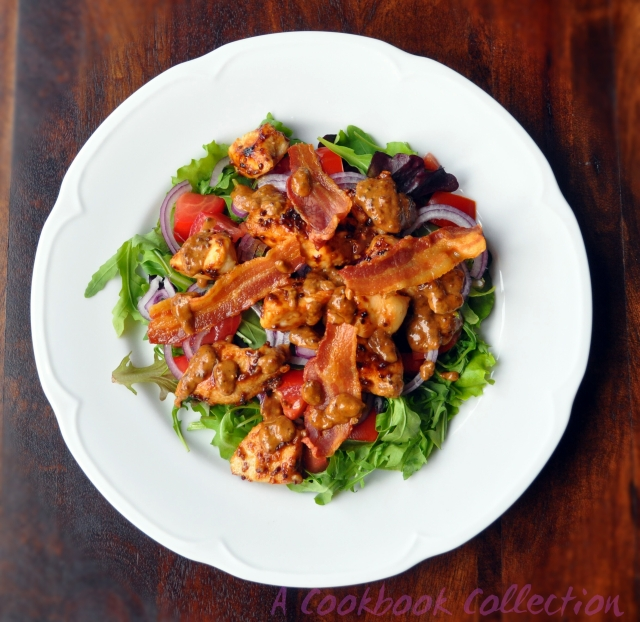 Warm Chicken and Bacon Salad -A Cookbook Collection