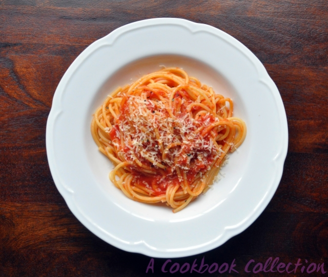 Tomato Sauce with Butter and Onion -A Cookbook Collection
