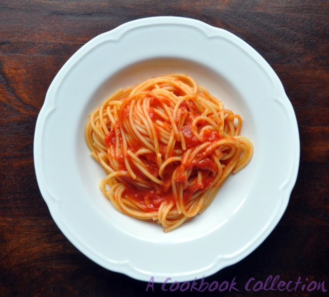 Tomato Sauce with Butter and Onion- A Cookbook Collection