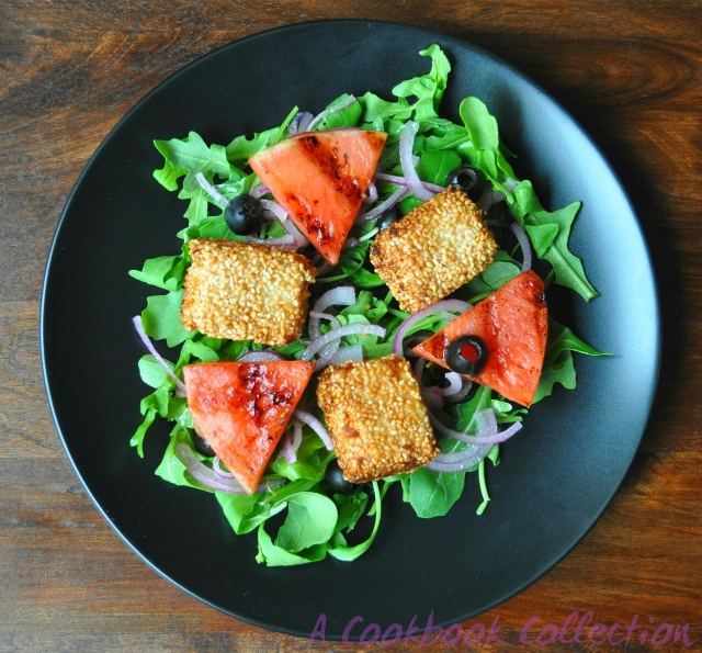 Watermelon and Feta Salad -A Cookbook Collection