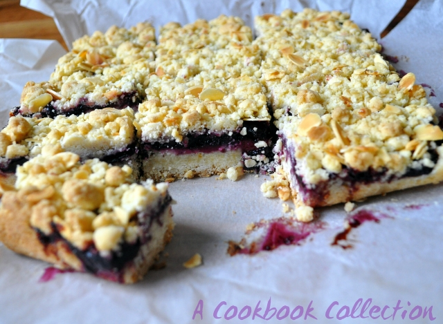 Cherry Crumble Bars - A Cookbook Collection
