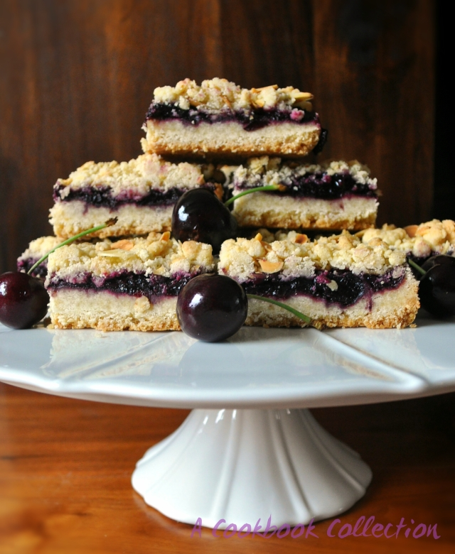 Cherry Crumble Bars -A Cookbook Collection