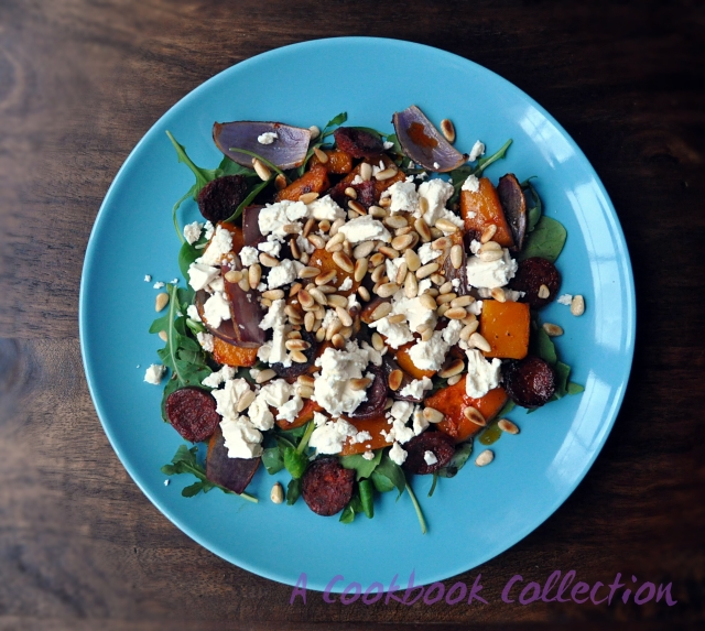 Butternut Squash and Chorizo Salad - A Cookbook Collection