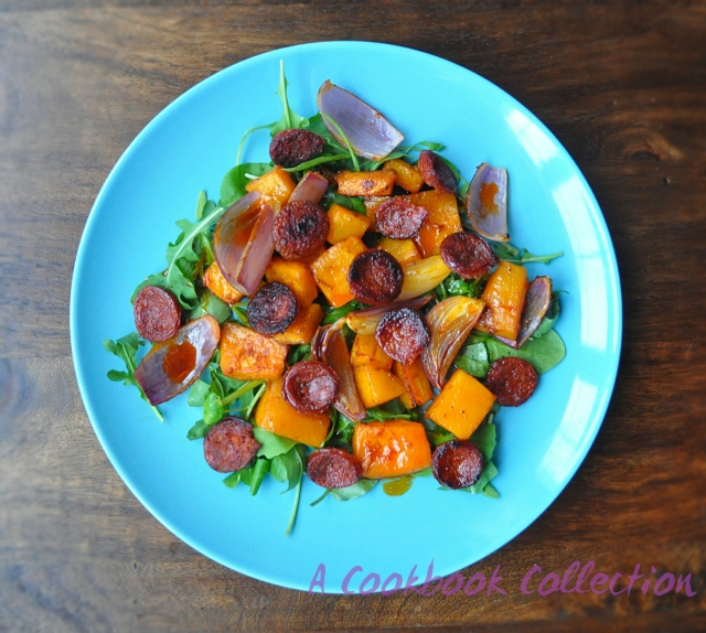 Butternut Squash and Chorizo Salad-A Cookbook Collection