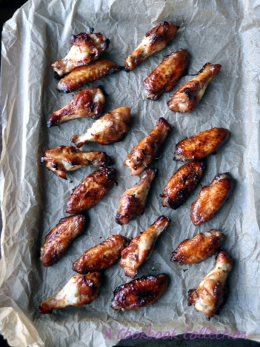 Drunken Chicken Wings with Blue Cheese Dip -A Cookbook Collection